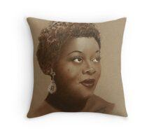A Portrait Of Dinah Washington Throw Pillow