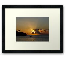 Sunset at Flying Fish Cove  Framed Print