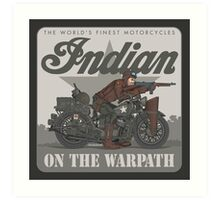 Indian on the Warpath Art Print