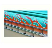 Street Rod Art: Flaming Louvers Art Print