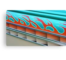 Street Rod Art: Flaming Louvers Canvas Print
