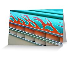 Street Rod Art: Flaming Louvers Greeting Card