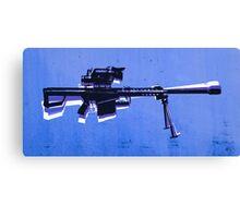 M82 Sniper Rifle on Blue Canvas Print
