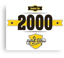 Born in 2000 (Choco&Yellow) Canvas Print