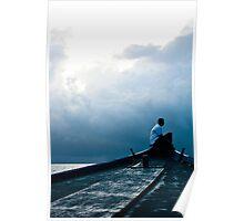 Ocean Guide - Overcast Maldives Poster