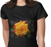 Raindrops on Rose Womens Fitted T-Shirt