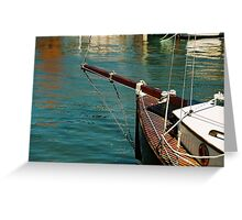 wooden bow, Goolwa River Port Greeting Card