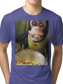 Musical Jolly Chimp Enjoys His Cereal Tri-blend T-Shirt