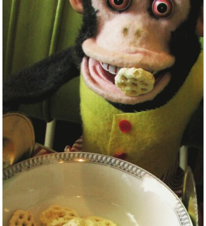 Musical Jolly Chimp Enjoys His Cereal Sticker