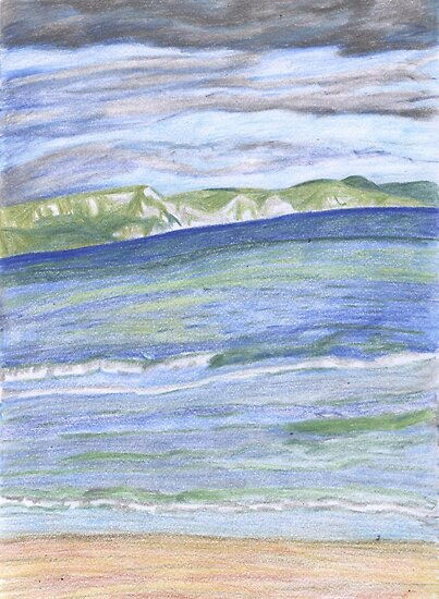 Weymouth Beach- Pencil by Kyleacharisse