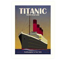Titanic Ocean Liner Art Deco Print Art Print