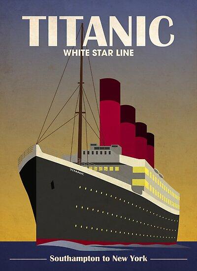 QuotTitanic Ocean Liner Art Deco Printquot Posters By Michael