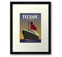 Titanic Ocean Liner Art Deco Print Framed Print