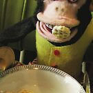 Musical Jolly Chimp Enjoys His Cereal by Margaret Bryant