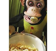Musical Jolly Chimp Enjoys His Cereal Photographic Print