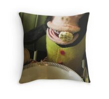Musical Jolly Chimp Enjoys His Cereal Throw Pillow