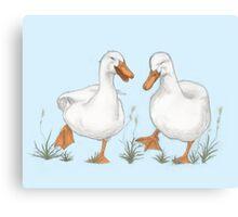 Happy Ducks Canvas Print