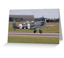 Spitfire MJ627 Twin Seater Greeting Card