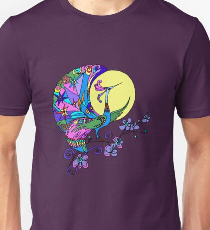 Peacock in the moon Unisex T-Shirt