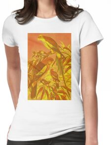 Parrots in the Sunset Womens Fitted T-Shirt