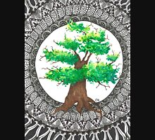 Watercolor and ink Mandala Tree Unisex T-Shirt
