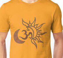 Celestial Om on Saffron Unisex T-Shirt