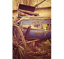 History In A Vintage Carriage Photographic Print