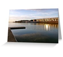 West Kirby, sunset Greeting Card