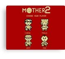 Mother 2 or Earthbound Canvas Print