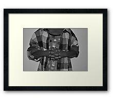 Little Beggar Framed Print