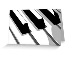 Piano Keyboard Pop Art Greeting Card