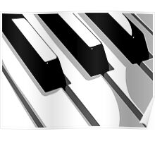 Piano Keyboard Pop Art Poster