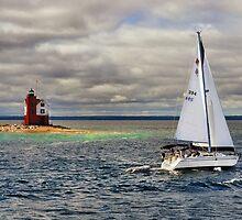 Round Island Light House (3) by Sandra Guzman