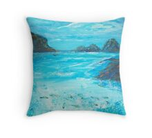 Return to the Blue Lagoon Throw Pillow