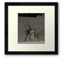 Banksy - The West Bank Framed Print