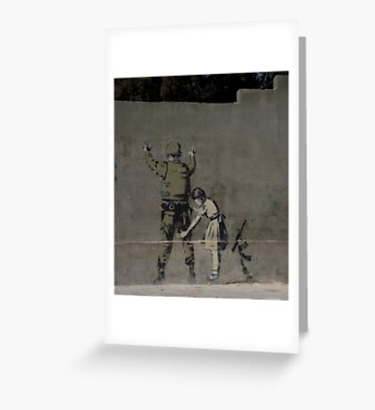 Banksy - The West Bank Greeting Card