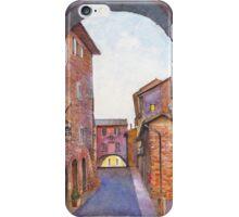 Assisi Street, Umbria, Italy iPhone Case/Skin