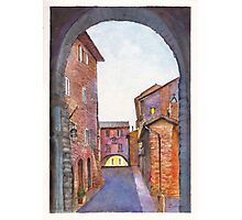 Assisi Street, Umbria, Italy Photographic Print