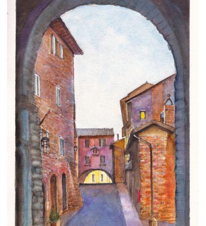 Assisi Street, Umbria, Italy Sticker