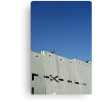 Graffiti - The West Bank Separation Wall, Palestine Canvas Print