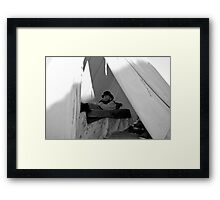 caught sleeping... Framed Print