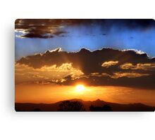Two Tone Sunset Canvas Print
