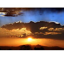 Two Tone Sunset Photographic Print