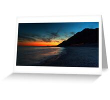 Branscombe beach at dusk Greeting Card
