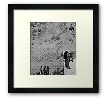 Muslim Woman, Petra Jordan Framed Print