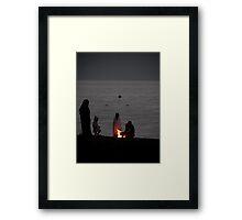 Bedouin Family - Aqaba beach Jordan Framed Print
