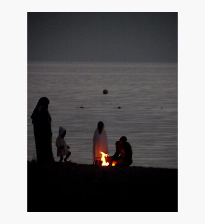 Bedouin Family - Aqaba beach Jordan Photographic Print