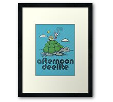 Afternoon Deelite. Framed Print