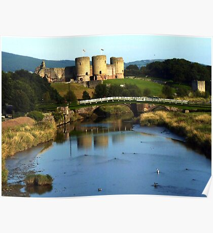 Rhuddlan Castle and River Clwyd Poster