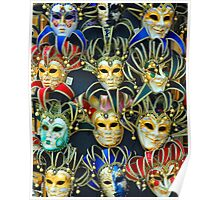 Venetian Opera Masks Poster